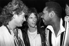 Robert Plant (Led Zeppelin), Jeff Beck and Nile Rodgers (Chic), '70s.