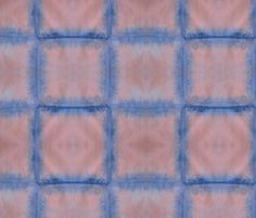 wallpaper Pink and Navy Shibori Squares fabric by megankaydesign on Spoonflower - custom fabric