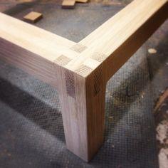 completed joint #woodwork #woodworking #furniture #ericervinwoodwork