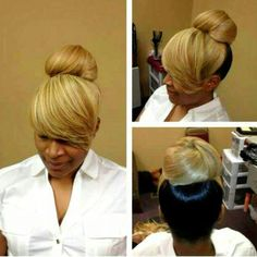 Cool Updo Buns And Bangs On Pinterest Short Hairstyles For Black Women Fulllsitofus