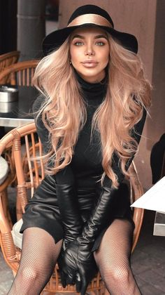 Black Leather Gloves, Leather Pants, Gloves Fashion, Classy Girl, Long Gloves, Power Dressing, Leather Fashion, Casual Chic, Outfits