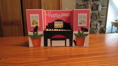 Calla Lily Studio Blog: Piano U Fold Box Birthday Card - 24th July 2017
