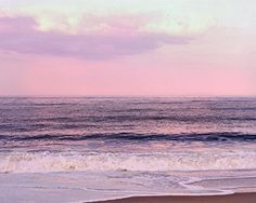 """Pink and Purple Ocean Art print, Beach Sunset Photography, Beach Cottage Wall Art, Coastal Picture, Bedroom Wall Art, Relaxing Photo. Fine art ocean photography print with sunset sky in pink and purple colors for your coastal wall art decor. Title: """"Sunset"""" Artist: Irina Wardas Please keep in mind that every computer monitor displays colors a bit differently, so what you see on the screen might vary a little bit from the prints you receive. My studio monitors are professionally calibrated..."""