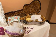 Purple glittery rock 'n' roll wedding from @offbeatbride
