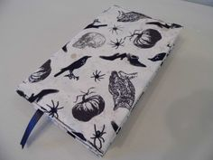 In the Dark Handmade Fabric Book Cover by BookAndCover on Etsy
