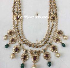 Antique Gold Step Necklace photo