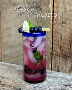 Blueberry Mojito @lelderpins