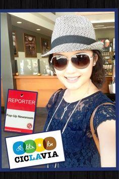 Pop-Up Newsroom reporter Mao Mao Xie reporting CicLavia Fall 2013