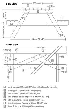 Free printable woodworking plans picnic table build woodworking picnic table plans ccuart Choice Image
