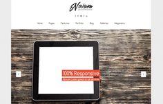 Novum - fresh, #modern & #responsive #WordPress #theme, made for any kind of website.