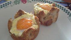 Huevos cocotte con corteza crujiente
