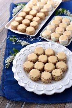 Ciasteczka warszawskie Sweet Desserts, No Bake Desserts, Delicious Desserts, Dessert Recipes, Yummy Food, Best Cookie Recipes, Gourmet Recipes, Sweet Recipes, Food Cakes