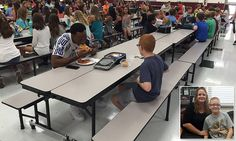 FSU football player eats lunch with sixth grader sitting alone #DailyMail   These are some of the stories. See the rest @ http://www.twodaysnewstand.com/mail-onlinecom.html or Video's @ http://www.dailymail.co.uk/video/index.html And @ https://plus.google.com/collection/wz4UXB
