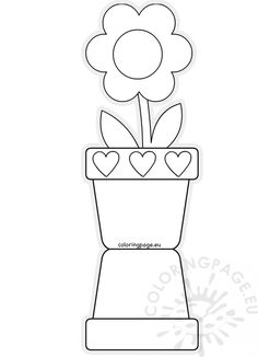 Mothers Day Card Template Fresh Flower Pot Shaped Card Template Mother S Day Printable Flower Coloring Pages, Mothers Day Coloring Pages, Coloring Pages For Kids, Kids Coloring, Mothers Day Flower Pot, Mothers Day Crafts For Kids, Fathers Day Crafts, Mothers Day Card Template, Mothers Day Cards