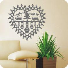 Wandtattoo Herz Kuhglocken - Bild 2 Emblem, Home Decor, Cowbell, Wall Decorations, Papercutting, Switzerland, Heart, Decorating, Ideas
