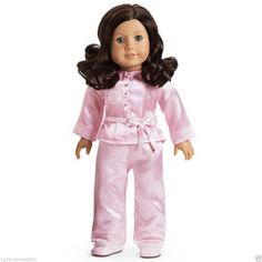 American Girl RUTHIE Satin Pajamas PJ's Slippers NIB NRFB Doll Not Included #AMERICANGIRL #DollClothingAccessories