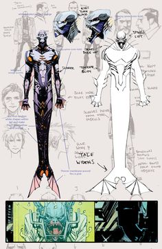 THE WAKE by Sean Murphy ✤    CHARACTER DESIGN REFERENCES  