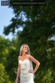 Natural outdoor bridal portrait  Wedding photography by Nashville Photography Group