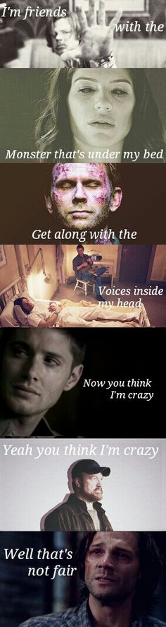 The Monster , Rihanna Sam and Dean Winchester. *not my edit*