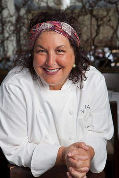 Female Chef with Head Wrap