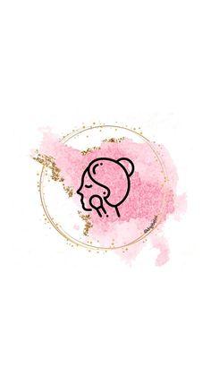 Cute Pink Background, Flower Background Wallpaper, Logo Background, Instagram Symbols, Instagram Logo, Instagram Story, Icon Design, Logo Design, Makeup Artist Logo