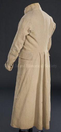 1800-20 ca golden tan and green wool overcoat via staten islant historical soociety