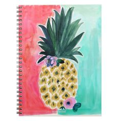 Pineapple Leia Tropical Spiral Notebook