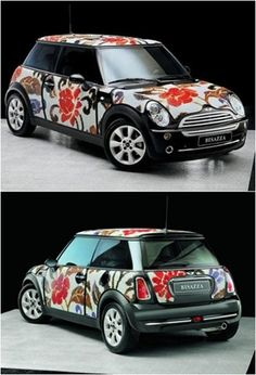 The Mini Cooper is immortalized with Bisazza mosaics!