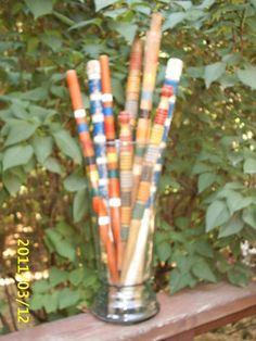 9 Vintage Wooden CROQUET Stakes/Goal Posts~Various Lengths Colors Primitive~OLD