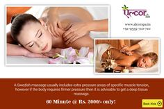 Book a Swedish massage session with #AlcorSpa @ Rs. 2000/- for 60 minutes and experience pure bliss. Release your body tension and give yourself a relaxing day at the #Spa.  To book an appointment with us, visit: http://alcorspa.in/book-appointment/