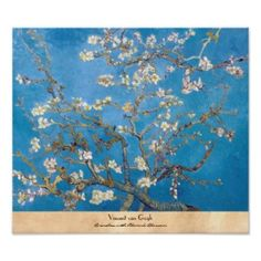Branches with Almond Blossom Van Gogh painting Poster #print #poster #branches #almond #blossom #postimpressionism #vintage #painting #vangogh #gogh #painting #masterpiece #reproduction #home #decoration #classic #gift #Paris #France
