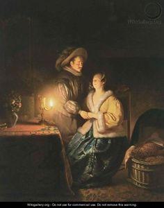 """The Flirtation,""  Petrus van Schendel"