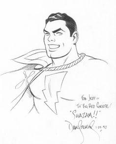 Captain Marvel sketch Comic Art