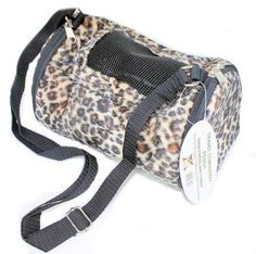Please note: we do not accept returns or exchanges of travel cages, carrier, totes, or bags. See our Customer Service tab for more information. New Travel Companion Pouches are ideal for Sugar Gliders and Hedgehogs. Soft fleece interiors, sheared fleece exteriors. Double zipper openings on each end, window on the top. Adjustable strap. Available in Cheetah design. Size: 10 inch x 6 inch x 6 inch.