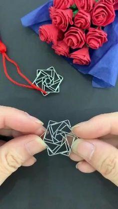 Cool Paper Crafts, Rope Crafts, Diy Crafts Hacks, Paper Crafts Origami, Diy Crafts For Gifts, Diy Home Crafts, Creative Crafts, Paper Flowers Craft, Origami Flowers
