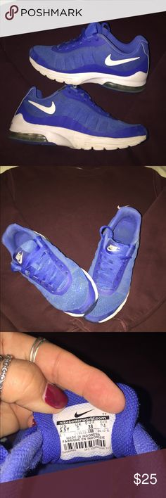 Dodger Blue Nikes🏅 🗣Great blue Nikes .. a few flaws I tried to picture .... otherwise nice and clean and ready for your use 🥇size is 5.5Yourh .. I wear a 7 and these fit 👍🏻👍🏻 Nike Shoes Sneakers