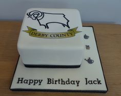 Derby County Birthday cake Burton on Trent A cake for a Derby County fan who also loves gardening. 4th Birthday Cakes, Happy Birthday, Burton On Trent, Bakery Kitchen, Derby County, Cake Ideas, Goodies, England, Gardening
