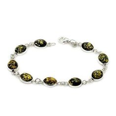 Sterling Silver Natural Green Baltic Amber Bracelet, 7.25  Price : $69.95 http://www.silverplazajewelry.com/Sterling-Silver-Natural-Baltic-Bracelet/dp/B00N2ZLMM0