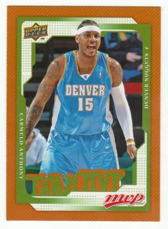 Carmelo Anthony # 177 - 2008-09 Upper Deck MVP Basketball
