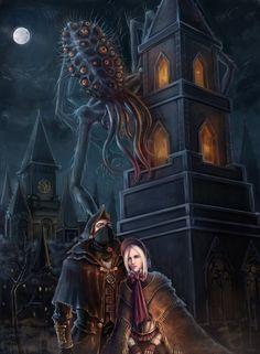 Bloodborne Concept Art, Bloodborne Art, Hack And Slash, Fantasy Rpg, Dark Fantasy Art, Anime Meme, Bloodborne Characters, Arte Dark Souls, Dark Blood