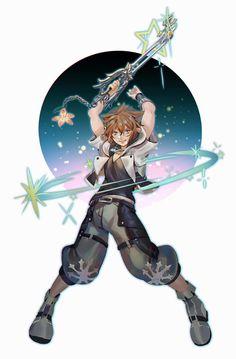Kingdom Hearts Games, Kingdom Hearts Characters, Kingdom Hearts Fanart, Kingdom 3, Sora And Kairi, Sora Kh, Pokemon, Kindom Hearts, Anime Comics