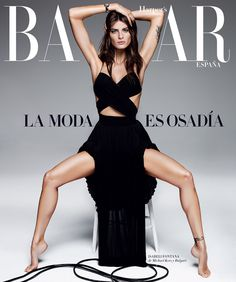 rojo y negro: isabeli fontana by alique for harper's bazaar spain april 2015