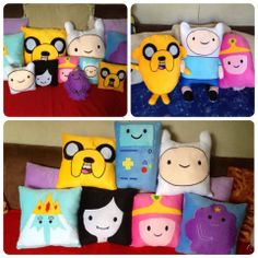 Ready for some Adventure...:) Adventure Time Pillows can bring along from Pillow me  https://www.facebook.com/pages/Pillow-Me/143156795733234