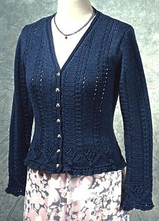 Ravelry: Flora Cardigan pattern by Dorothy Siemens Knitting Paterns, Knit Patterns, Clothing Patterns, Lace Knitting, Cardigan Pattern, Jacket Pattern, Knit Cardigan, Ravelry, Knit Jacket