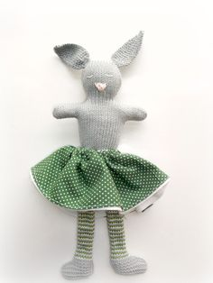 Estelle, the knitted rabbit