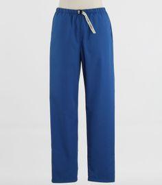 Scrub Med Womens Belted Scrub Pants in Skipper Blue