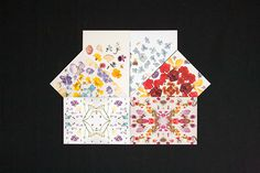 Card designs created together by Risa Kusumoto (Lokokon) and Virginia Polo (Pikolab) Handmade Design, Card Designs, Paper Goods, Dried Flowers, Collaboration, Postcards, Behance, Etsy Shop, Graphic Design