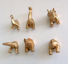 gold dinosaur magnets