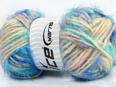 Ice Yarns Techno Dumbo Turquoise Lilac Cream Blue Yarn https://www.etsy.com/listing/270852974/ice-yarns-techno-dumbo-turquoise-lilac