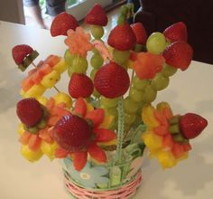 Fruit Salad Decoration Ideas | Baby Shower Food Ideas: Fruity Flowers, Savory Salads and Panini